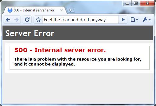 IIS generic error