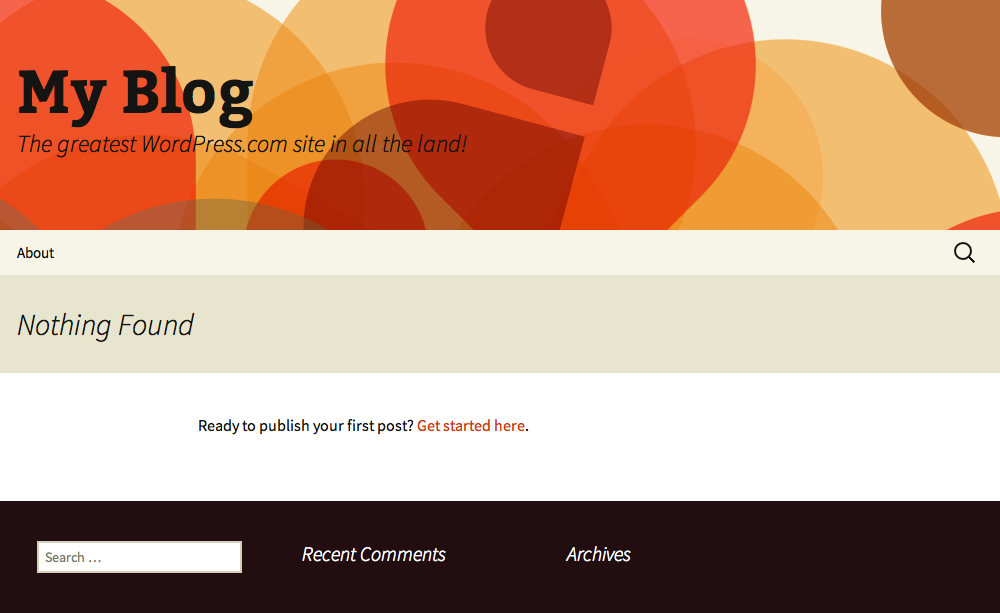 Brand new WordPress website