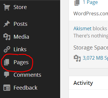 wordpress-pages-menu